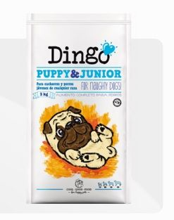 #Alimento completo, #natural y equilibrado, de fácil digestión para cachorros y perros jóvenes. Hace que nuestro cachorro tenga músculos y huesos sanos, a la vez que refuerza su sistema inmunitario. #Dingo #Dingonatura #alimentosaludable #petfood #pets #pet #dog #perro #perros #healthyfood #comidaparaperros #puppy #junior #packaging #comida