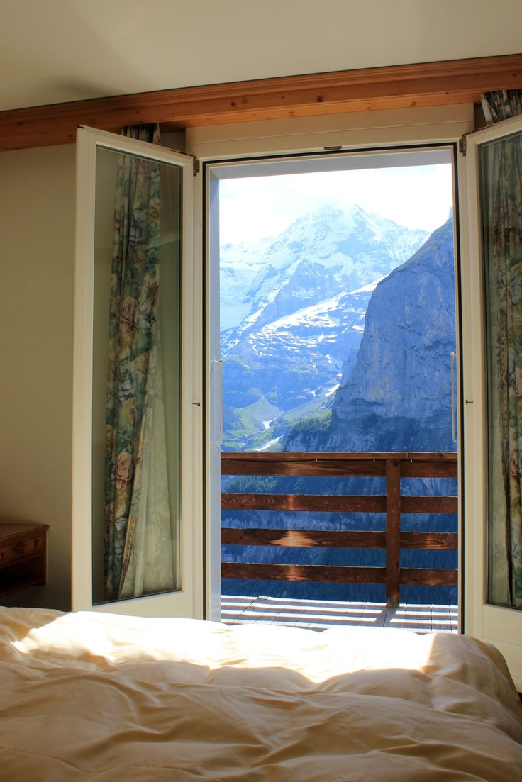 Room with a VIEW! Switzerland Hotel Eiger Grindelwald 2012