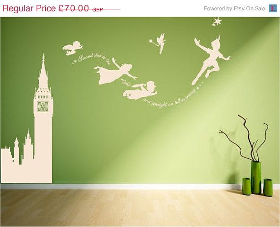 Hey, I found this really awesome Etsy listing at https://www.etsy.com/listing/190471928/on-sale-15-off-peter-pan-big-ben-scene