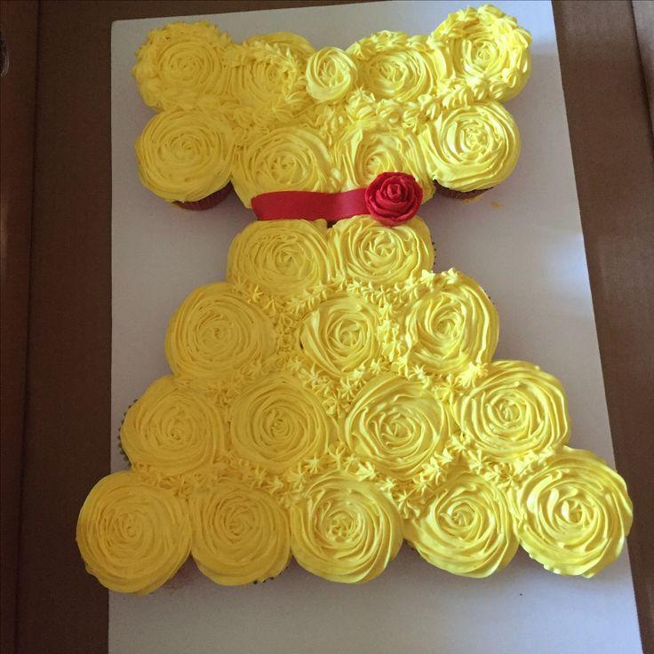 Princess dress pull apart cupcake cake