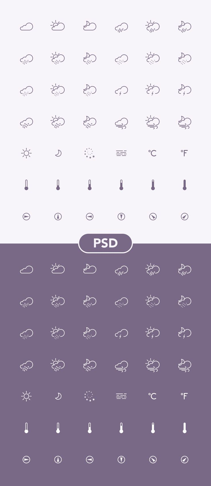 Dribbble weather icon