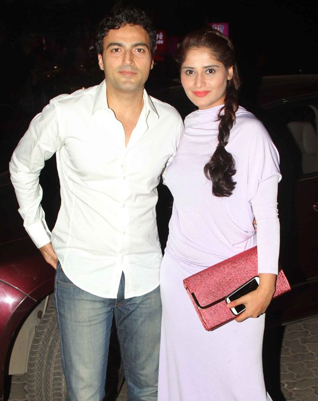 Ayaz Khan and Aarti Singh seen at a party in the western suburbs of Mumbai. #Style #Bollywood #Fashion #Beauty
