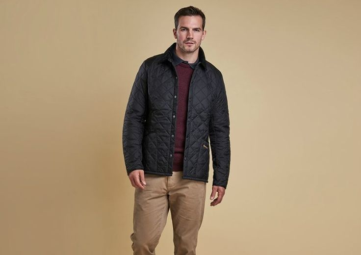 Mens barbour quilted jacket street style