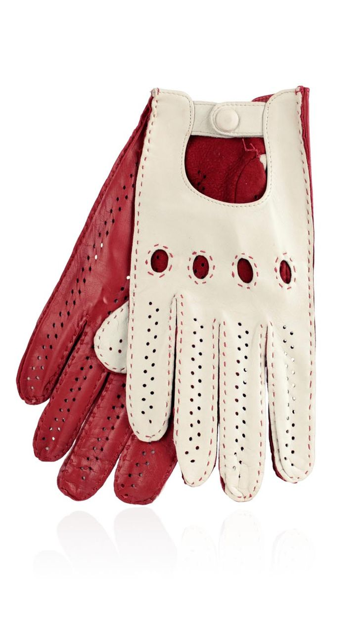 Gaspar leather driving gloves -  Unlined Ferrari