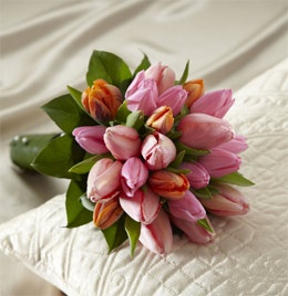 Gorgeous tulip bridal bouquet from Fleur-tatious Floral Design.