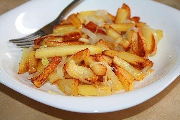Несколько правил того, чтобы ваша жареная картошка получилась вкусной и красивой. | Про рецептики - лучшие кулинарные рецепты для Вас!