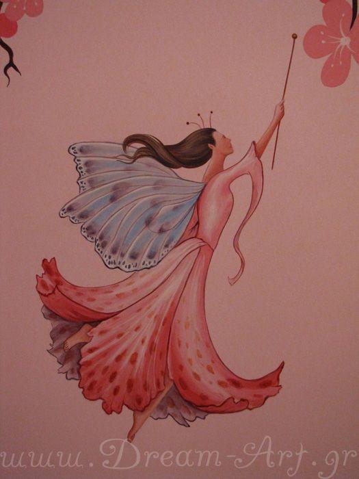 Νεράιδα, ζωγραφική στον τοίχο