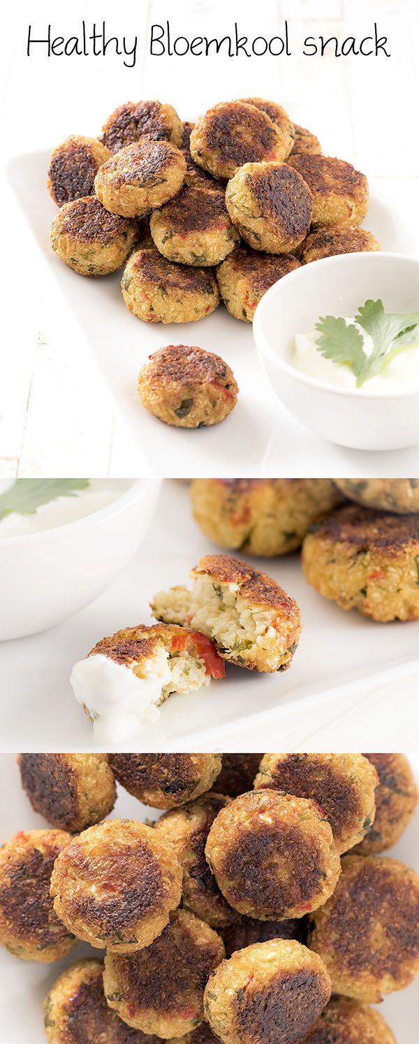 Heerlijke bloemkool snack gemaakt van bloemkool (duh) Een healthy alternatief met veel voedingsstoffen.