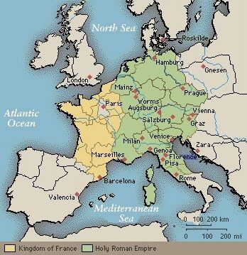 Outline Map of Europe in Late Middle Ages - washburn.edu