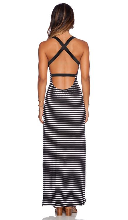 Blue Life Sexy Maxi Dress in Black & White   REVOLVE