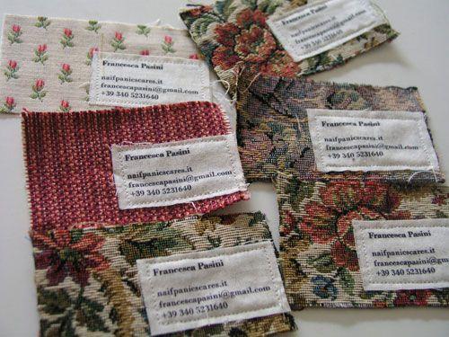 cardonizer.com  Fabric business cards? Me likey likey!