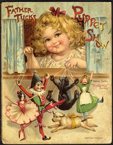 FATHER TUCK'S PUPPET SHOW Book - FRANCES BRUNDAGE - 1890s Raphael Tuck