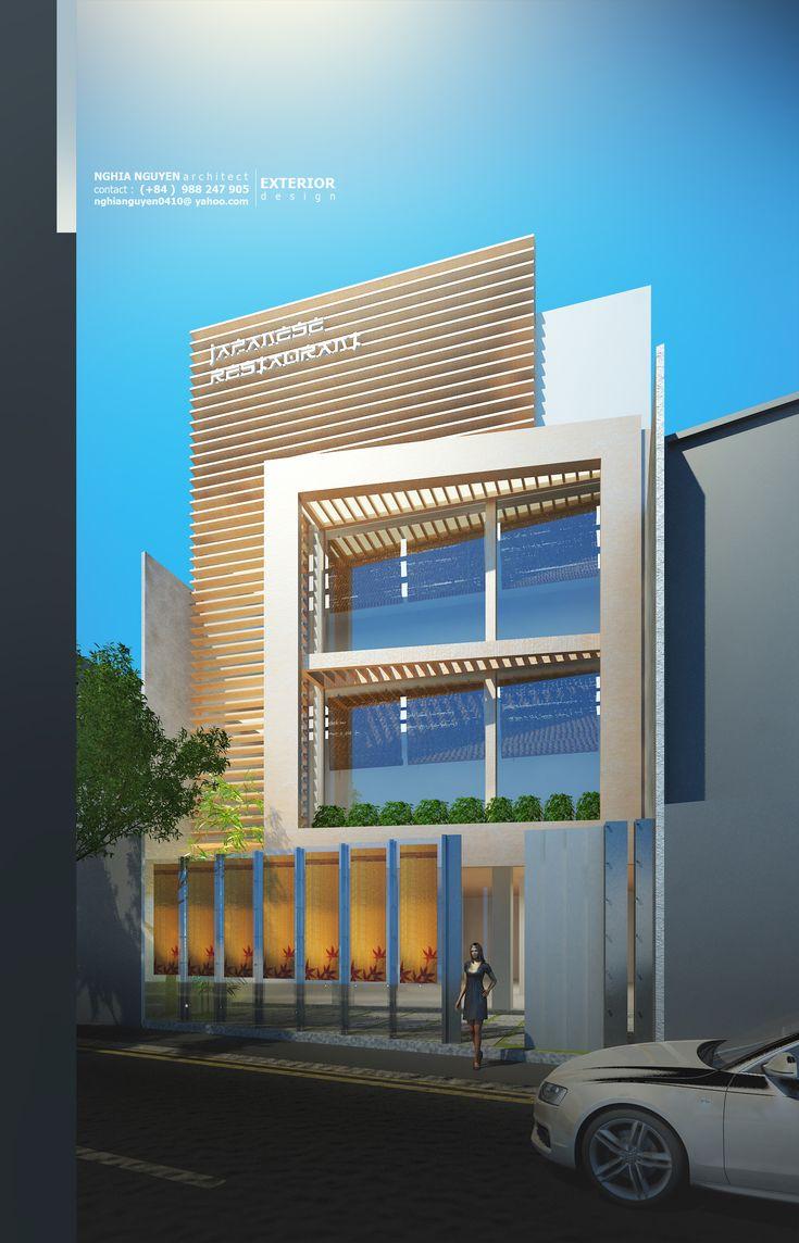 Restaurant exterior architecture - Thi T K Nh Ph Bi T Th Architecture Interior Design Construction Restaurant Exterior Designfacade Designarchitecture