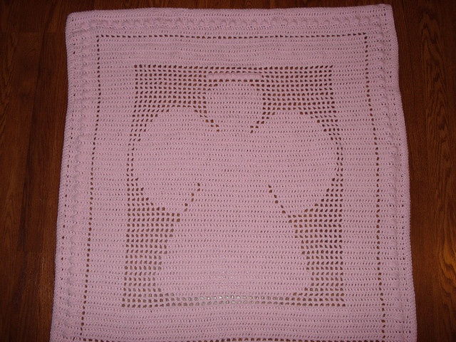 Crocheted angel baby blanket vintage pattern