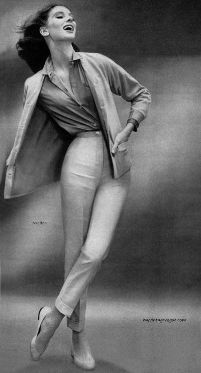 Suzy Parker in John Weitz 1957