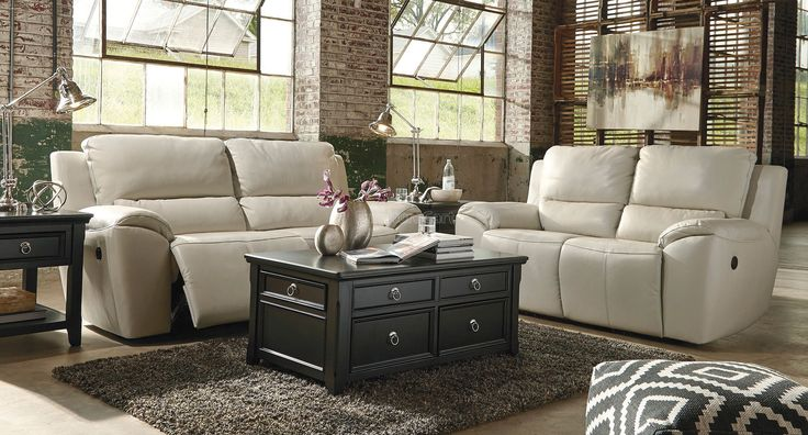 ValetonCreamPowerRecliningLivingRoomSet Ashley