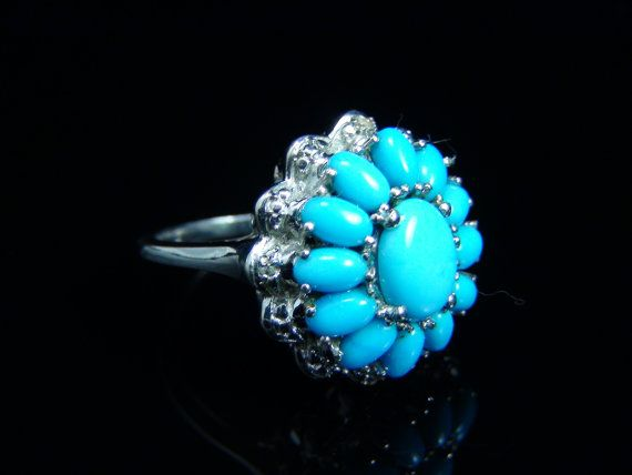 Vintage Ladies Sleeping Beauty Turquoise Sterling by BarakaGems, $285.00