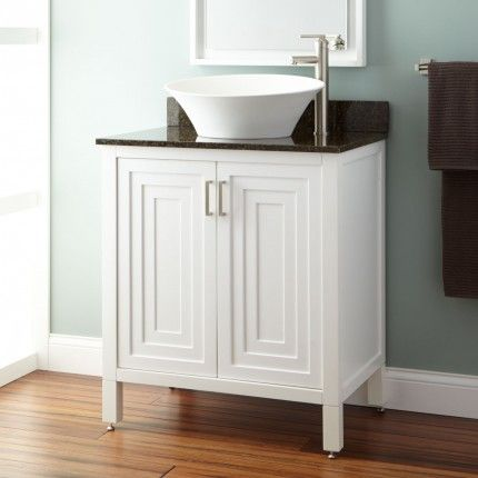30 Audra Vessel Sink Vanity White Bathroom Makeover Pinterest