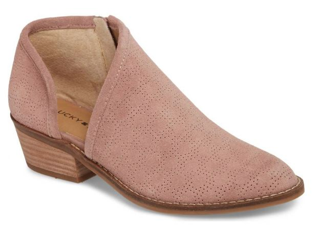 pink booties from nordstrom