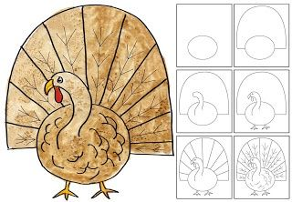 Art Projects for Kids: How to Draw a Turkey
