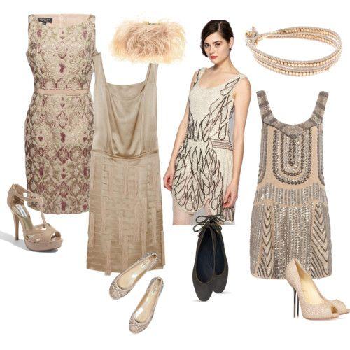 Un petit air rétro pour ces robes de jacquard, ou brodées de paillettes, parfaites pour une brochette de demoiselles d'honneur chic et vintage.
