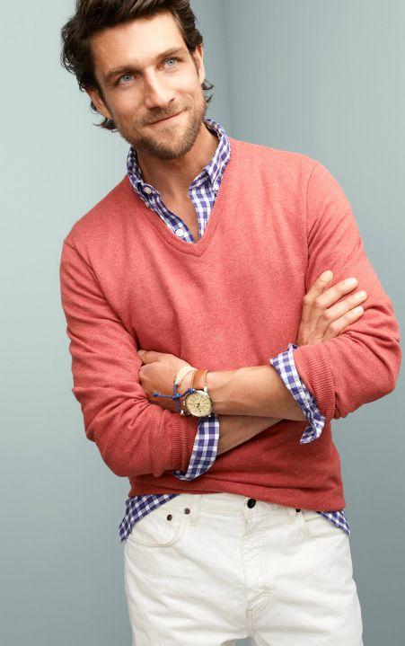 Nantucket red and gingham - great colors for dad!