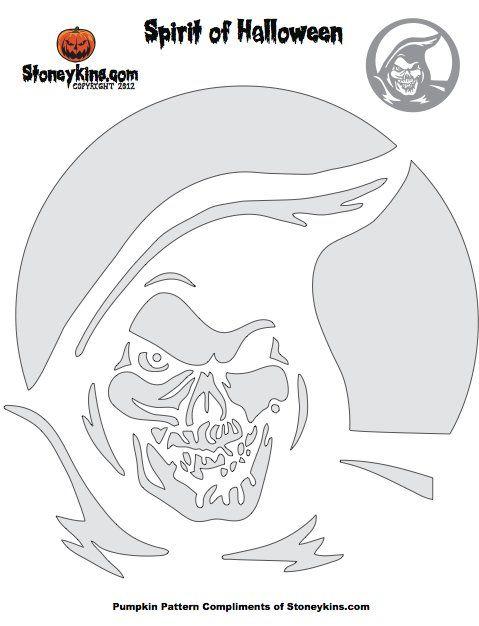 Grim Reaper Pumpkin Stencil