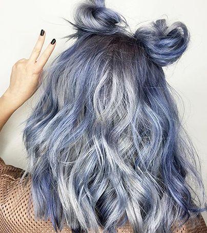 Kenra Color Space Blue Buns