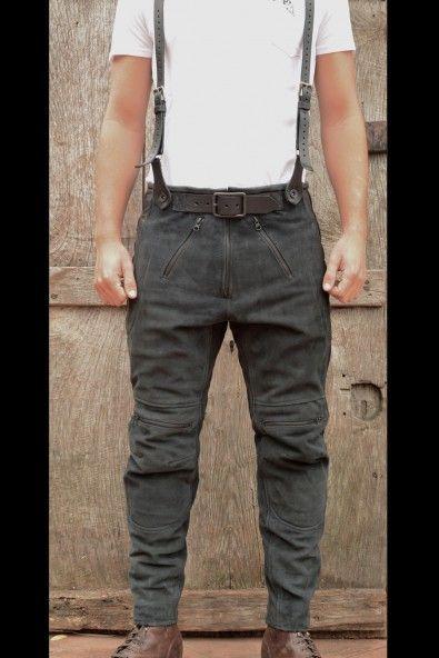 El Solitario   Rascal Leather Motorcycle Pants Black   El Solitario MC
