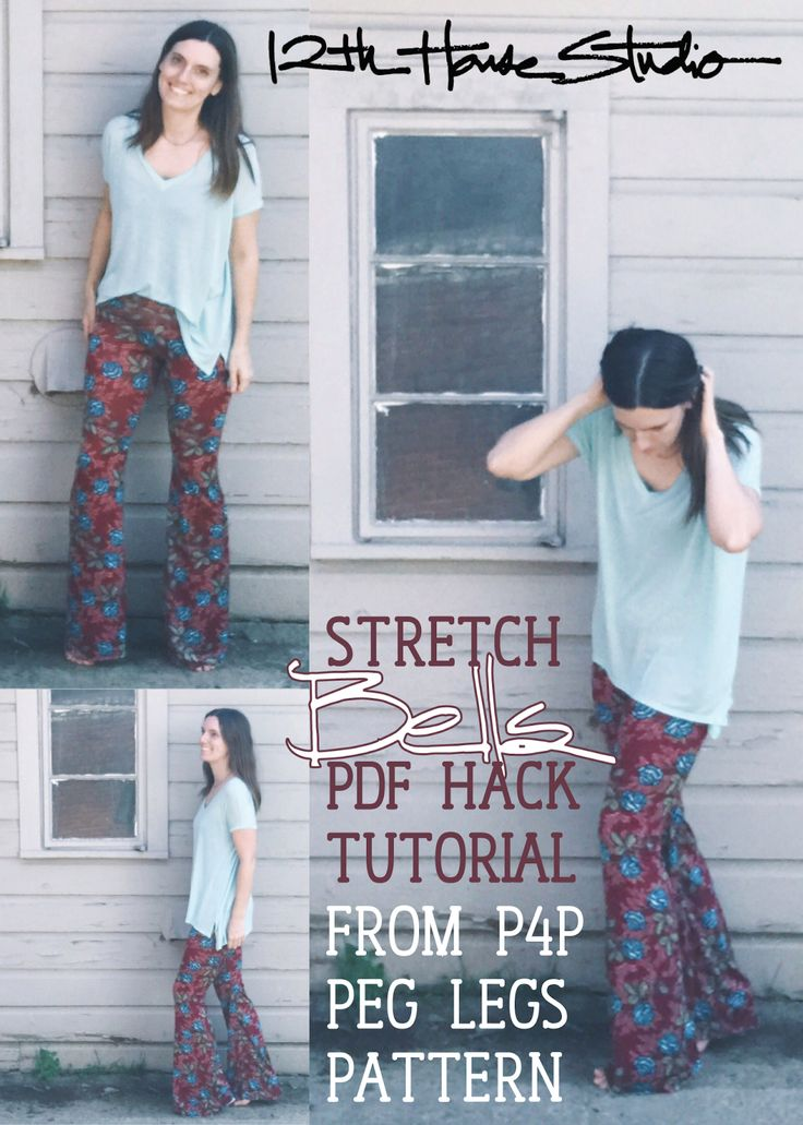 P4P Peg Legs to Bell Bottoms Hack! A 12th House Tutorial for Flattering Stretch Flares. | 12th House Studio
