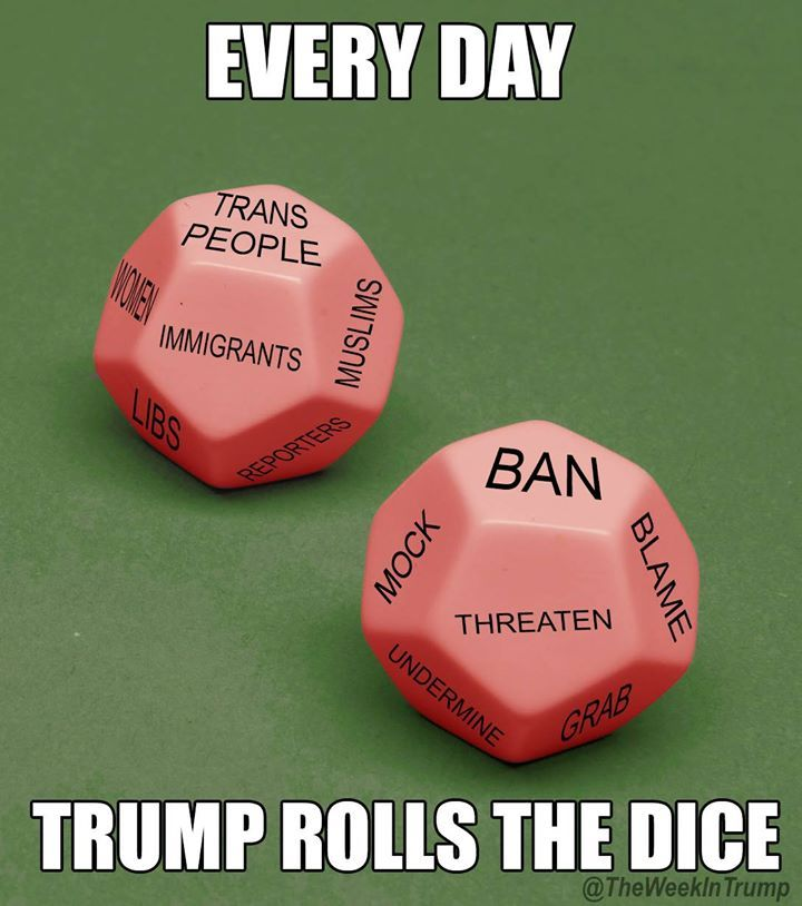 Every day Trump rolls the dice