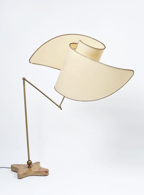 Lot : Carlo Mollino (Torino 1905 - Torino 1973) - Lampada da terra a stelo.. | Dans la vente Arts Décoratifs du XXème siècle, Design à Il Ponte Casa d'Aste est 3000/4000€