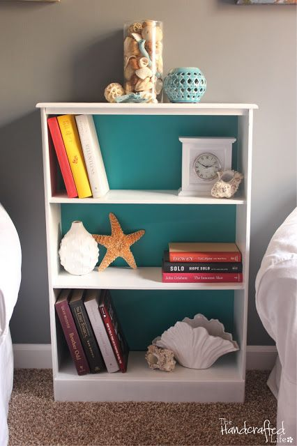 Teal, White and Grey Guest Bedroom Reveal
