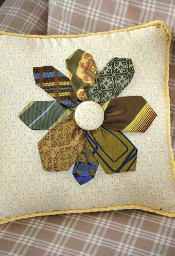 Necktie Flower Pillow