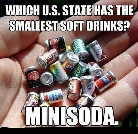 What makes this even funnier is that I'm from Minnesota and pretty much no one says soda we all say pop.
