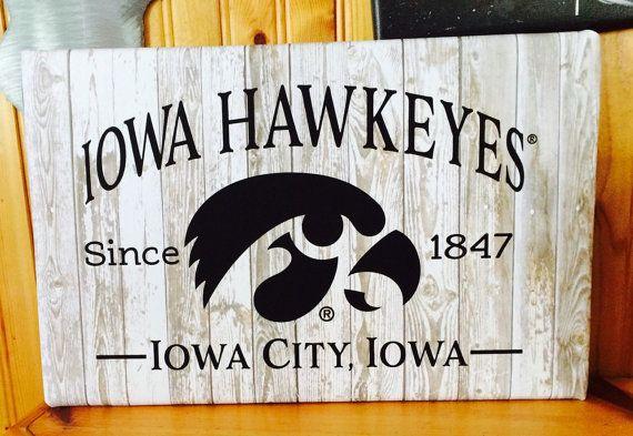 Iowa Hawkeyes Since 1847 Iowa City, Iowa with Tigerhawk Print