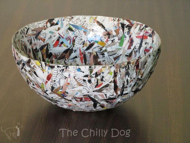 Tutorial: Decorative paper bird nest bowl