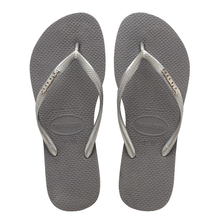 Havaianas Slim Logo Metallic Sandal Grey/Silver  Price From: 26,90€