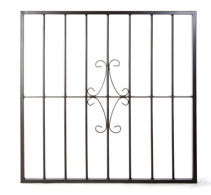 Reja de hierro de seguridad para ventanas. Modelo Ornamental .