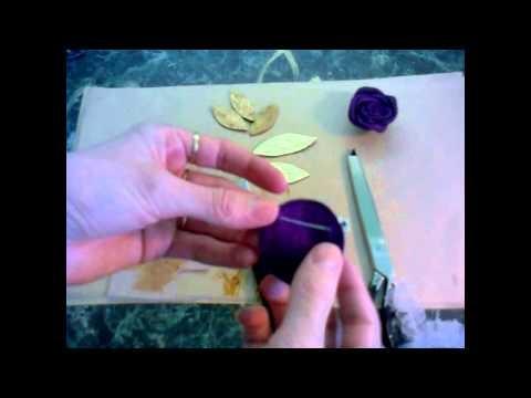 Как сделать брошь из кожи виде цветка(роза) Часть III - YouTube