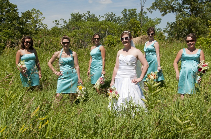 Each of the bridesmaids chose their own dress style