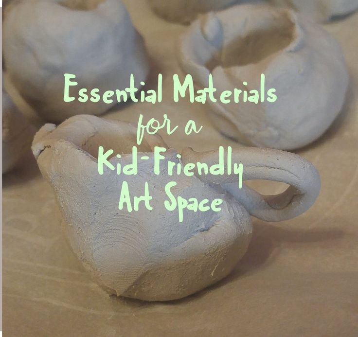 Essential Materials for a Kid-Friendly Art Space.  Let this list guide you in choosing and setting up your child's art space.  Simple and creative art mediums that will engage your children in art!