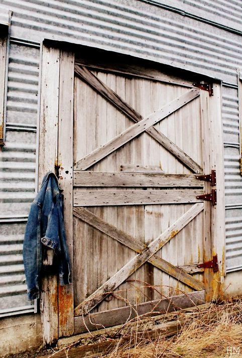 Denim jackets belong on old barn doors and fences