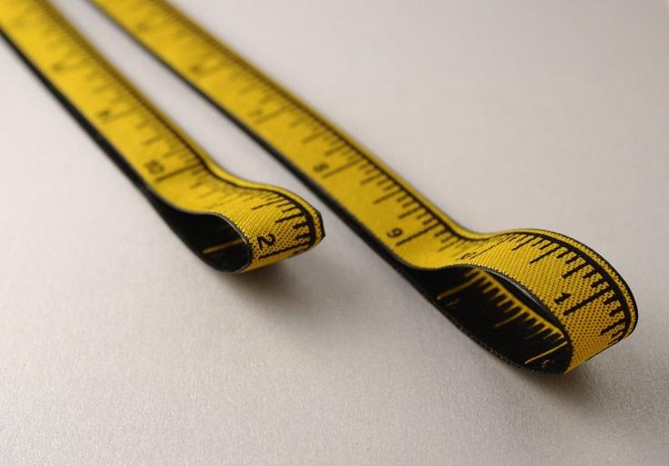 Yellow Inch Tape Measure Pattern Safe Chart