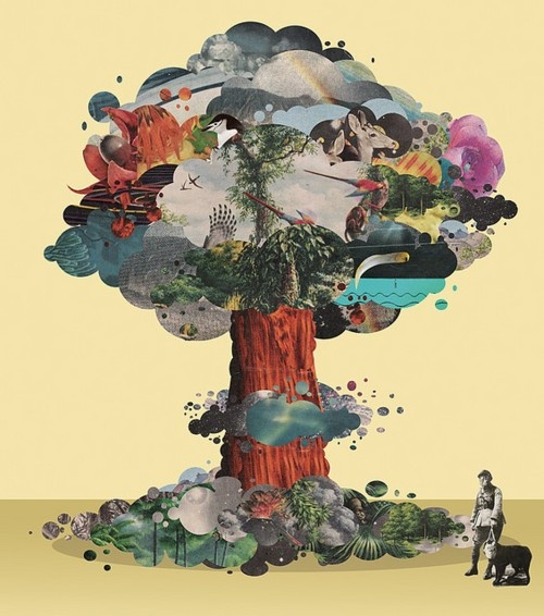 creation: Collage Art, Illustration, Mixed Media, Art Collage, Trees, Collages, Tree Of Life