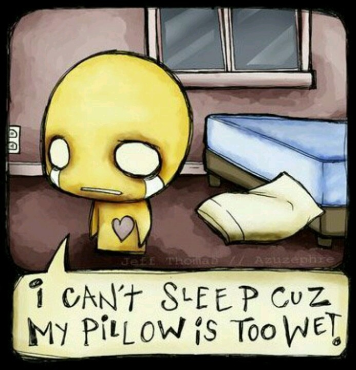 Pon zi photo i cant sleep cuz my pillow is to wet