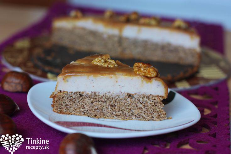 Bezlepková gaštanová tortička s tečúcim karamelom - Powered by @ultimaterecipe