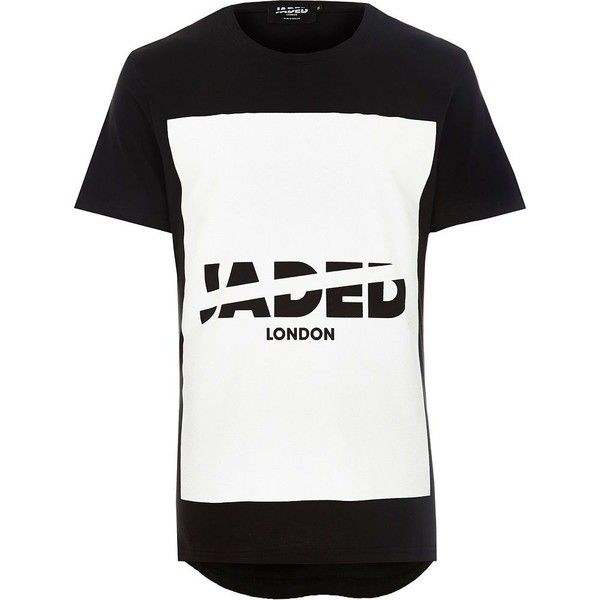 River Island Black Jaded printed t-shirt (65 BRL) ❤ liked on Polyvore featuring men's fashion, men's clothing, men's shirts, men's t-shirts, peter lynn, sale, river island mens shirts, mens crew neck shirts, mens logo t shirts and mens short sleeve shirts