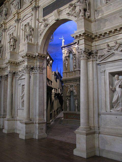 Teatro Olimpico (Olympic Theatre, 1580-1585 by Andrea Palladio), Vicenza, Veneto, Italy