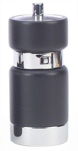 5.6'' GP JL Styled Black With Chrome Base Salt Shaker - Pepper Mill Combo